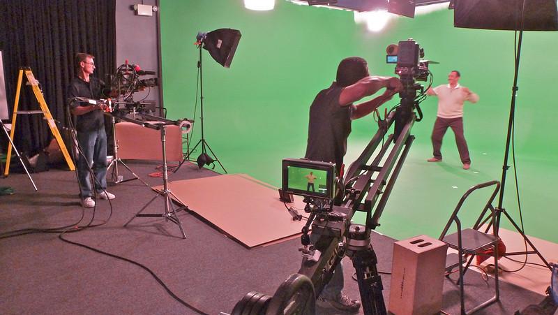 Green screen day in the studio...