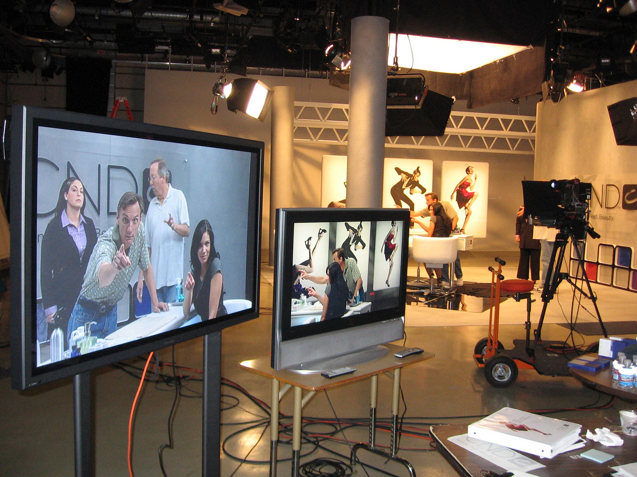 Multi-camera studio shoot