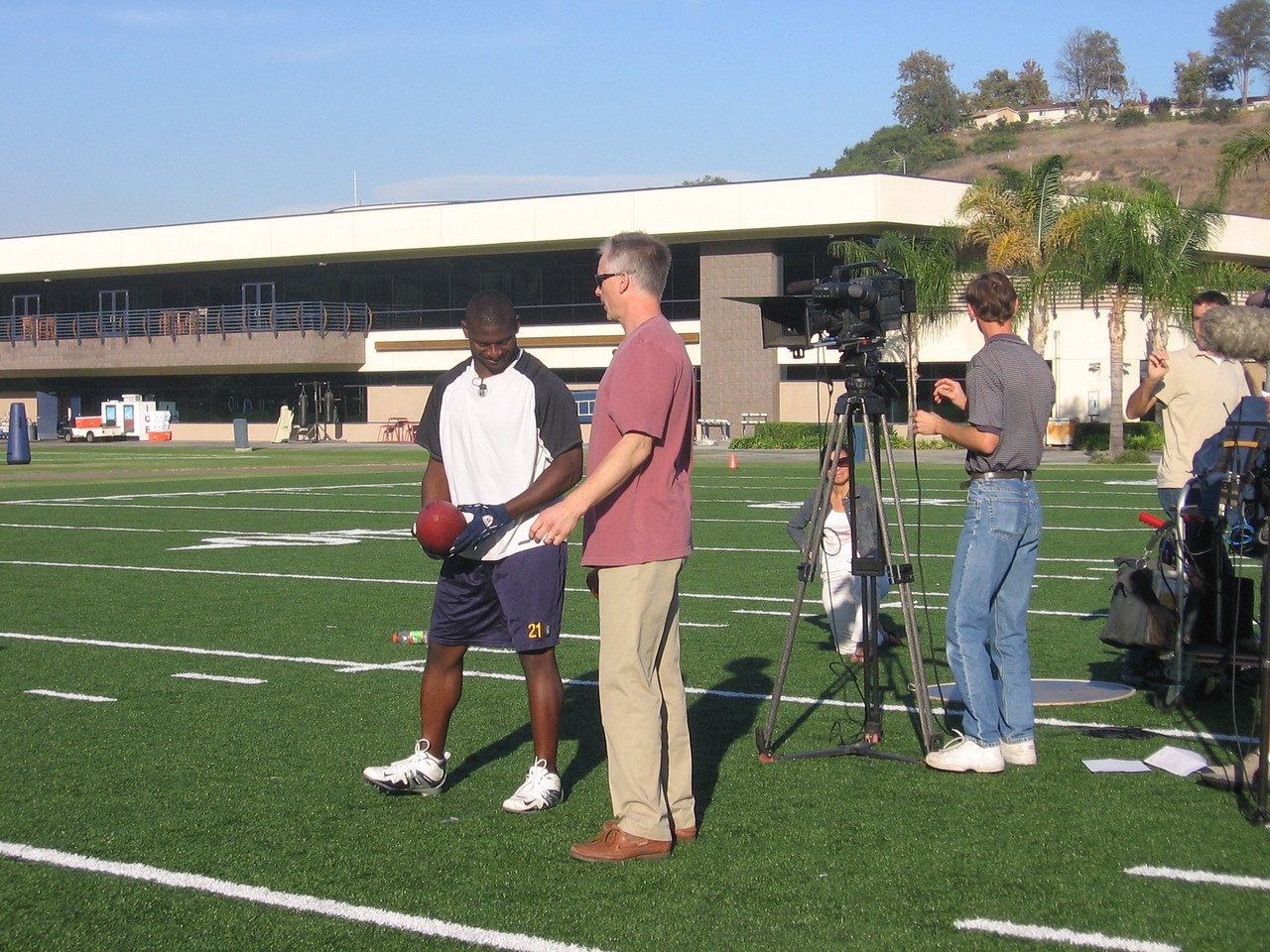 ESPN shoot with L.T. and Ken Mayne for Sloan Productions