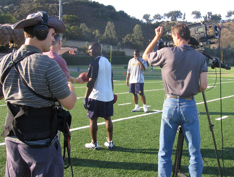 One of the many ESPN/Chargers shoots.  This one was with LaDanian Tomlinson & Antonio Gates.