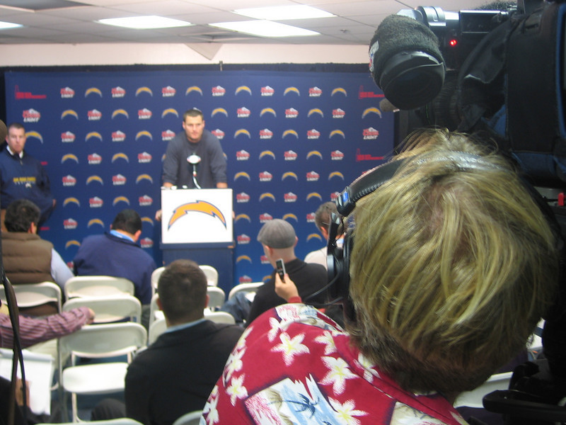 One of the many post game press conferences with Philip Rivers.  What a career he has had...and it's not over yet.