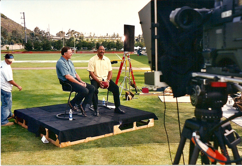 Direct TV sports show for football season with Kellen Winslow and Jim Laslavic.