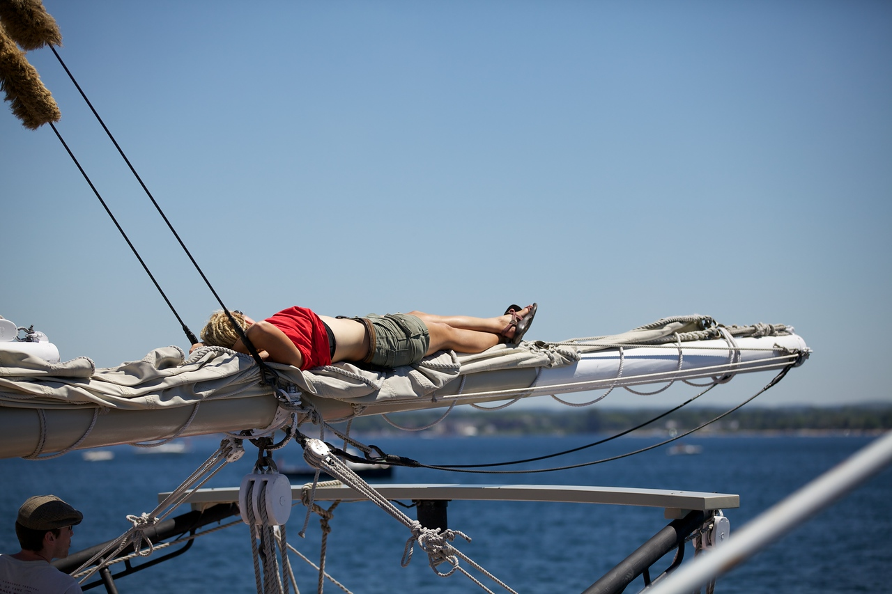The joy of sailing
