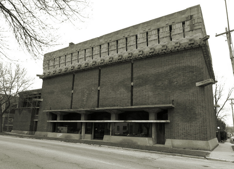 The A.D. German warehouse in Richland Center Wisconsin. Designed by Frank Lloyd Wright.
