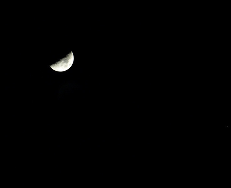The moon from my deck