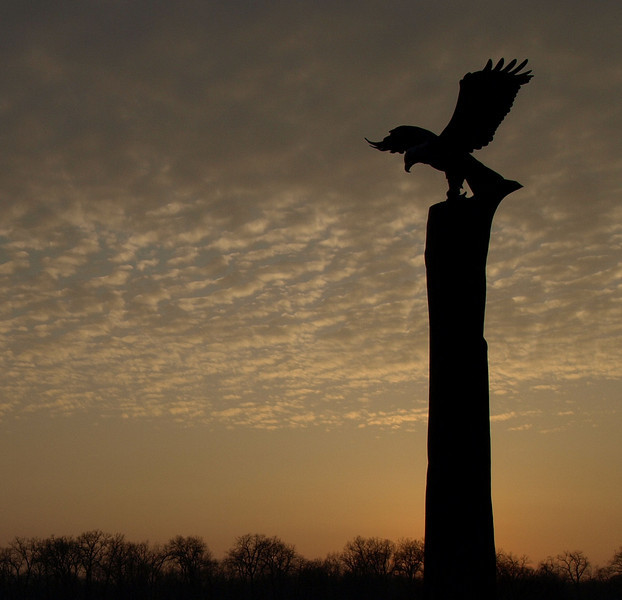 Eagle Sculpture at Riverside park in LaCrosse.