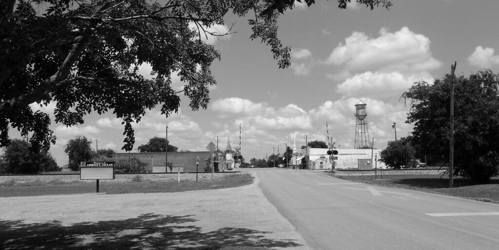 Looking at downtown Abbott, TX