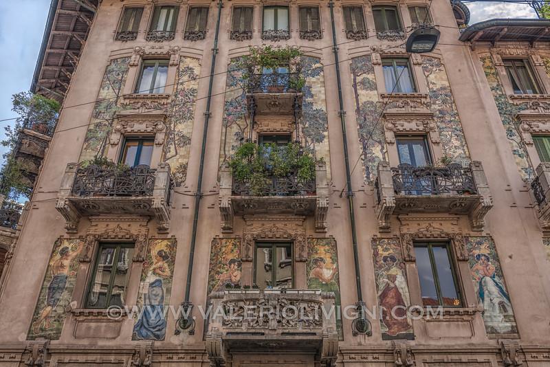 Galimberti mansion: liberty building in Sirtori St. - Casa Galimberti: palazzina Liberty in via Sirtori