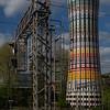 Rainbow Tower at Garibaldi Gate railway station (ex water tank) - Torre Arcobaleno alla stazione di P.ta Garibaldi (ex cisterna d'acqua)