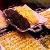 Buying pasta in Milan, Italy