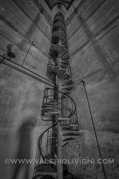 Old spiral staircase at Pirelli Hangar Bicocca