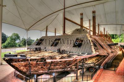 USS Cairo Ironclad.  Vicksburg battlefield, Mississippi.