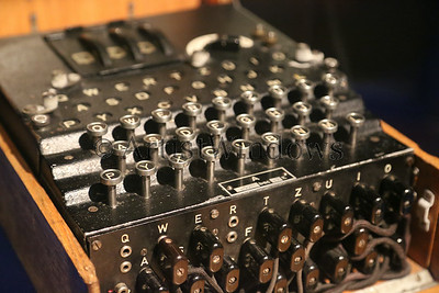 The Enigma machine that was used for enciphering and deciphering secret messages.