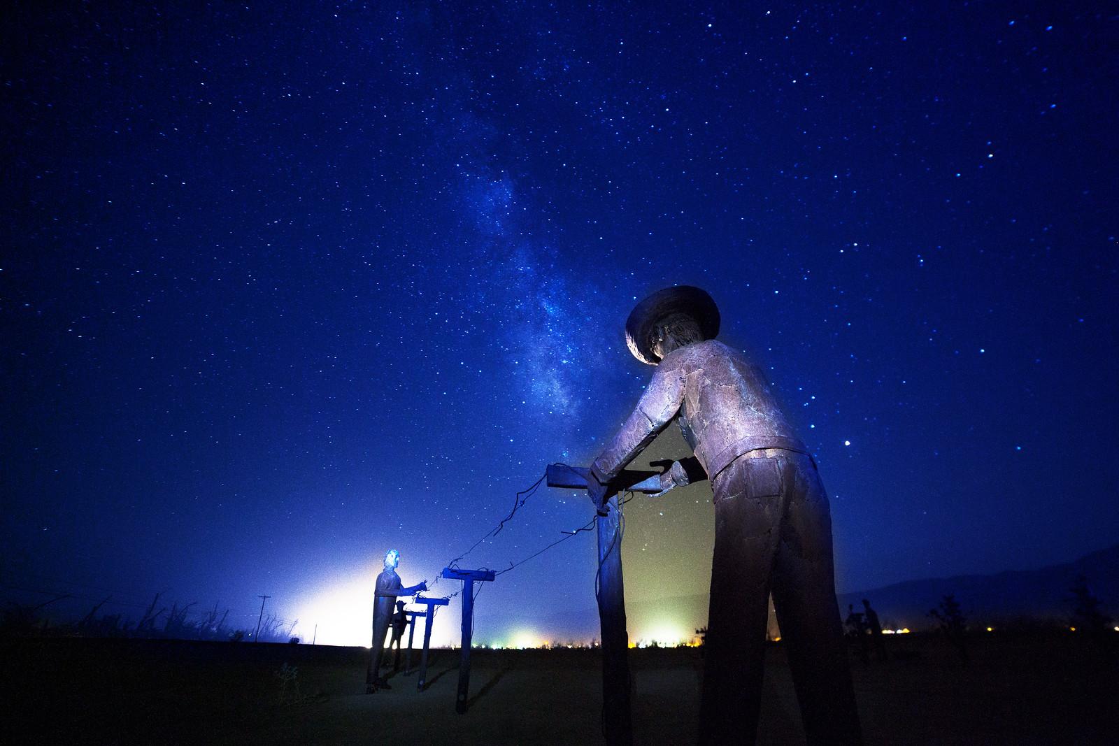 Milky Way over the  Anzo Borrego Desert