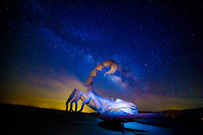 Milky Way over the  Anzo Borrego Desert