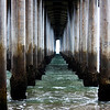 Under the Pier at Huntington Beach CA