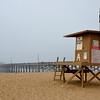 Newport Beach Pier with Lifeguard Stand 2