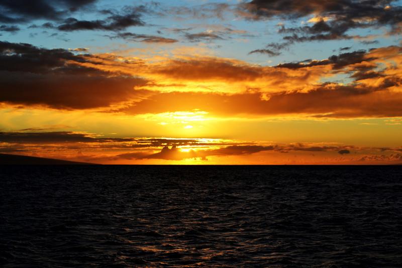 Sunset near Kaanapali in Maui Hawaii
