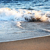 Water and Sand at the Wedge in Newport Beach California