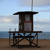 Lifeguard Station on the Beach in Southern California