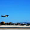B-25 Airplane Taking Off at John Wayne Airport in Santa Ana California