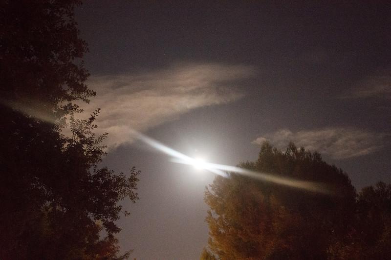 Full Moon on a Scary Halloween Night