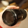 """And in case you're wondering what a """"beercan"""" lens looks like, here's a picture.  It's over 7 inches long."""