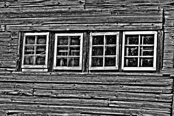 Black and White of an old barn in Vermont.