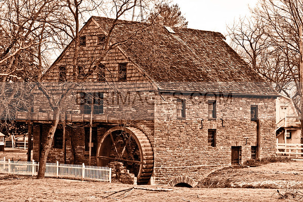 Old Water Wheel and Mill in Lancaster, Pa.