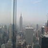 Empire State building taken from the top of the Rockefeller Center.  Photo by Connie