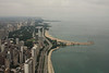 Lake Shore Drive Chicago otherwise known as the Magnificent Mile looking north from the Sears tower.