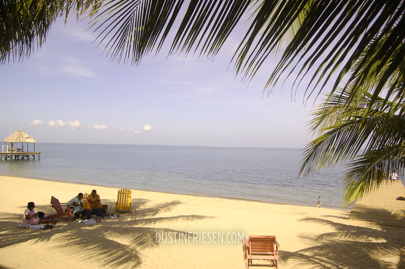 Guatemalan women on beach, Belize