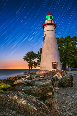 Marblehead Ohio Lighthouse - Star Trails