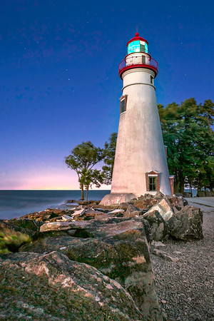 Marblehead Ohio Lighthouse - Star Points