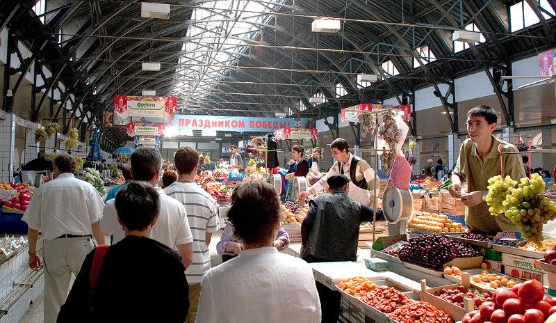 Indoor farmers market - St. Petersburg Russia