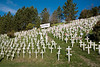 "I took this photo on President's Day. It is a controversial memorial located in Lafayette, CA. The Memorial reads ""In Memory of 3,111 Killed in Iraq. This photo represents a section of the 3,111 crosses."