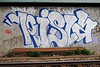 Graffiti neaar railroad tracks - Stockholm