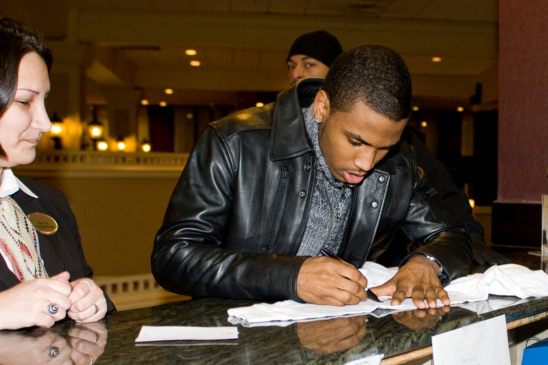 R&B Singer Trey Songz before his show in Greenville, SC.