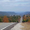 Panoramic view along Highway 337 near Medina in the Hill Country.