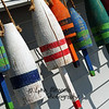 Colorful buoys in Plymouth, MA.<br /> 8/19/08