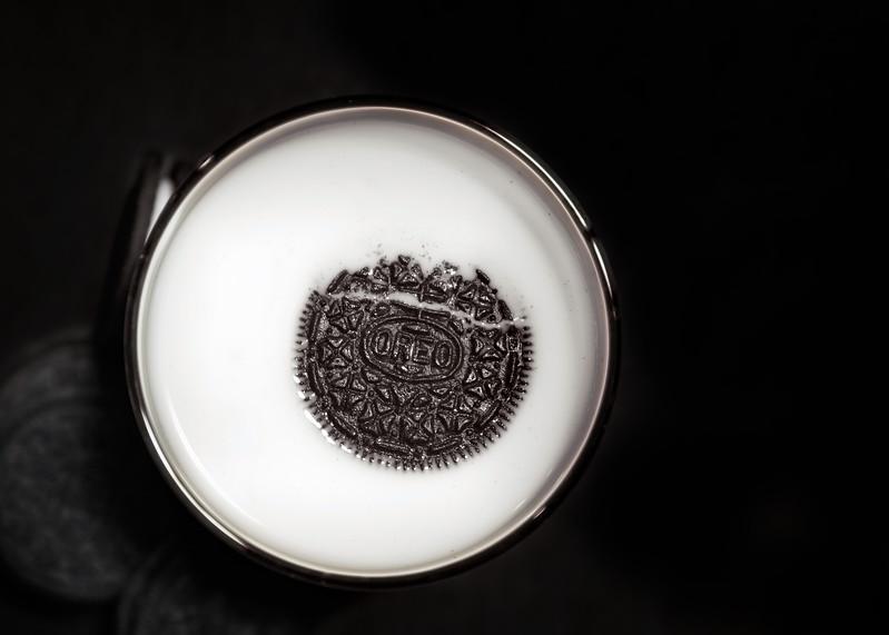 Sinking Oreo<br /> Milk and Oreos go together.
