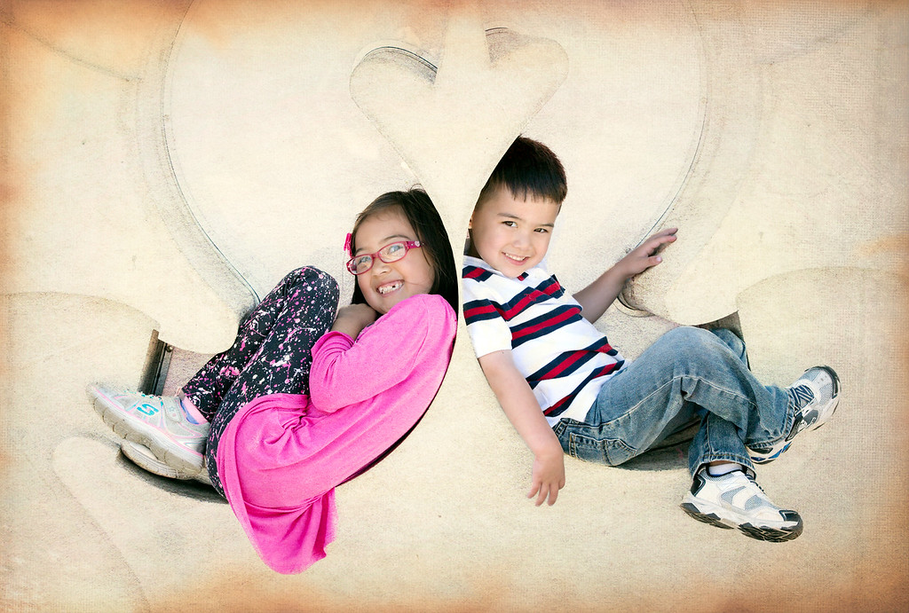 Mia and Noah.<br /> In San Diego on the Midway Walk.  Just before they leave for Japan.