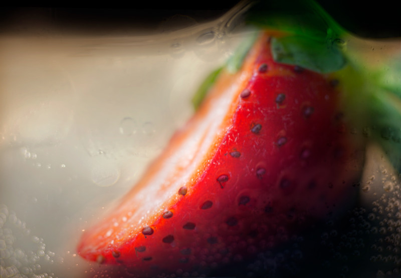 double exposure, Sprite and Strawberry