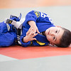 Noah at Jujitsu warm-ups.