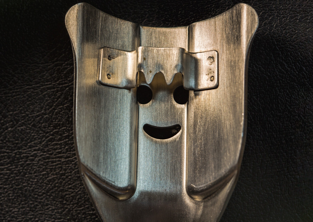 Smile Face.<br /> This is a kitchen gadget that scrapes corn off of the cob.