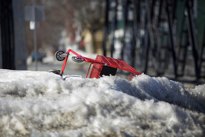 Shopping Cart in Snowbank