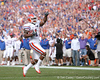 photo by Tim Casey<br /> <br /> Florida junior wide receiver/running back Percy Harvin runs for a 13-yard touchdown during the first half of the Gators' game against the Georgia Bulldogs on Saturday, November 1, 2008 at Jacksonville Municipal Stadium in Jacksonville, Fla. Florida led 14-3 at halftime.