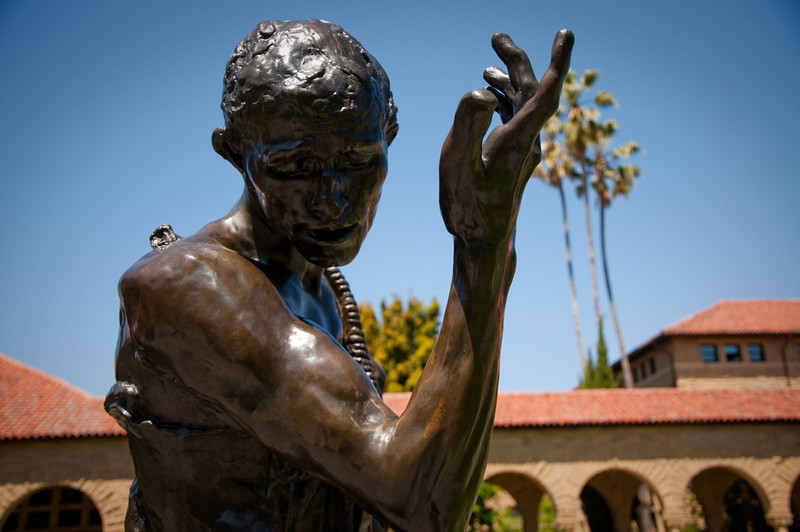 A sculpture at Stanford.