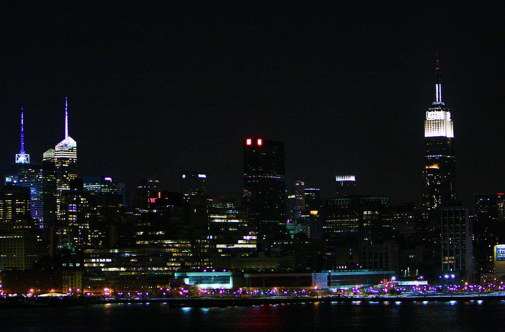 New York City Sky Line, shot from Hoboken NJ.