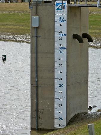 Red River Flood Gauge<br /> Fargo ND